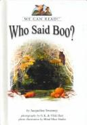 Cover of: Who said boo?