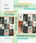Cover of: Effective human relations in organizations