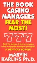 The book casino managers fear the most! by Marvin Karlins