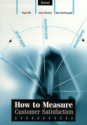 Cover of: How to Measure Customer Satisfaction | Nigel Hill