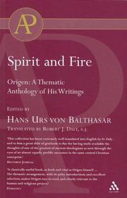 Cover of: Origen, Spirit And Fire |