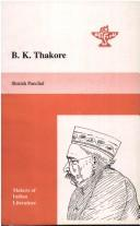 Cover of: B.K. Thakore