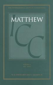 Cover of: Commentary on Matthew VIII-XVIII | W. D. Davies