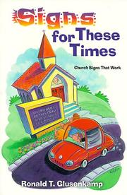 Cover of: Signs for these times