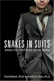 Cover of: Snakes in Suits | Paul Babiak