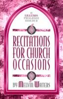 Cover of: Recitations for church occasions