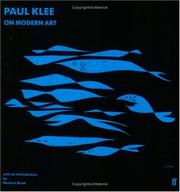 Cover of: On modern art | Paul Klee