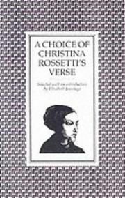 Cover of: A choice of Christina Rossetti's verse