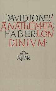 Cover of: The anathemata