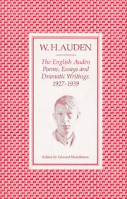 Cover of: The English Auden | W. H. Auden