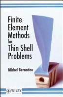 Cover of: Finite element methods for thin shell problems