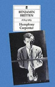 Cover of: Benjamin Britten a Biography