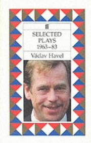 Cover of: Selected plays, 1963-83