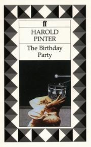 Cover of: The birthday party: a play in three acts.