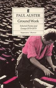 Cover of: Ground Work: selected poems and essays1970-1979