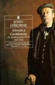 Cover of: Almost a Gentleman: An Autobiography: 1955-1966