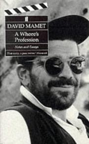 Cover of: A whore's profession: notes and essays