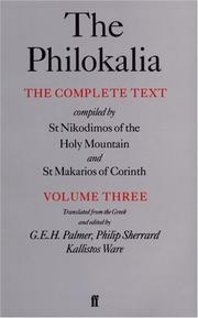 Cover of: The Philokalia  |