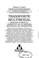 Cover of: Transporte multimodal