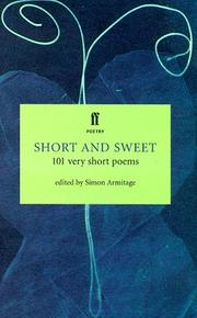 Cover of: Short and Sweet (Faber Poetry)