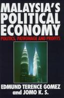 Cover of: Malaysia's political economy