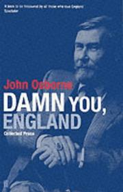 Cover of: Damn You England!