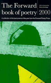 Cover of: The Forward Book of Poetry