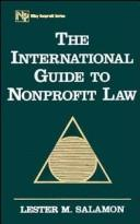 Cover of: The international guide to nonprofit law | Lester M. Salamon