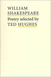 Cover of: William Shakespeare Poetry (Poet to Poet: An Essential Choice of Classic Verse) | William Shakespeare