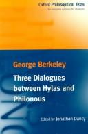 Cover of: Three dialogues between Hylas and Philonous | George Berkeley