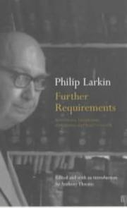 Cover of: Further requirements
