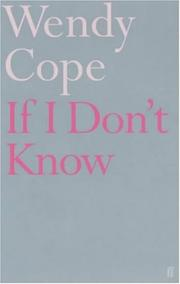 Cover of: If I don't know