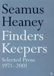 Cover of: Finders Keepers: selected prose, 1971-2001