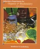 Cover of: Laboratory experiments for Introduction to organic & biochemistry | Frederick A. Bettelheim