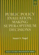 Cover of: Public policy evaluation