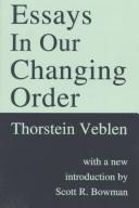 Cover of: Essays in our changing order