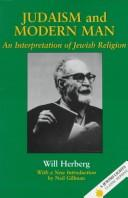 Cover of: Judaism and modern man