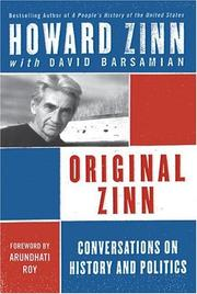 Cover of: Original Zinn: Conversations on History and Politics