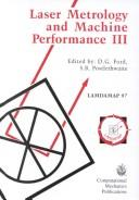 Cover of: Laser metrology and machine performance III |