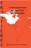 Cover of: L'anticommunisme aux Etats-Unis de 1946 à 1954