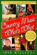 Cover of: Country music what's what