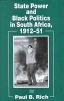 Cover of: State power and black politics in South Africa, 1912-51