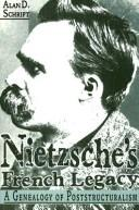 Cover of: Nietzsche's French legacy