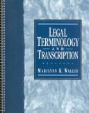 Cover of: Legal terminology and transcription