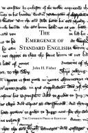 Cover of: The emergence of standard English