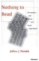Cover of: Nothing to read