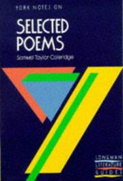 "Cover of: York Notes on Samuel Taylor Coleridge's ""Selected Poems"""