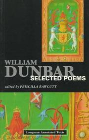 Cover of: William Dunbar | Priscilla Bawcutt