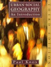Urban social geography by Paul L. Knox