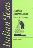 Cover of: Italian journalism
